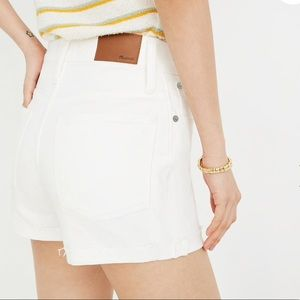NWT Madewell High-Rise Denim Shorts in Tile White